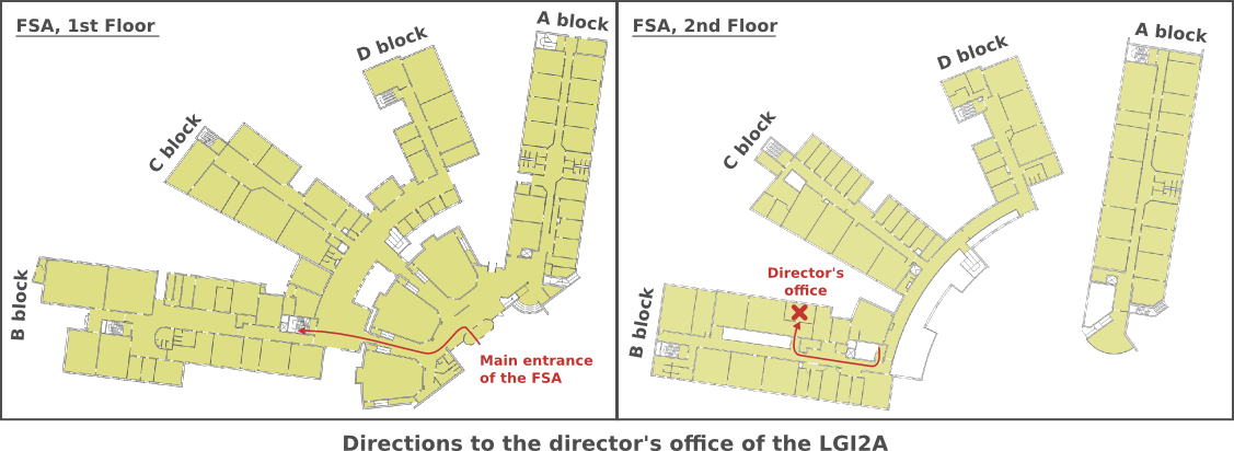 Directions to the director's office of the LGI2A