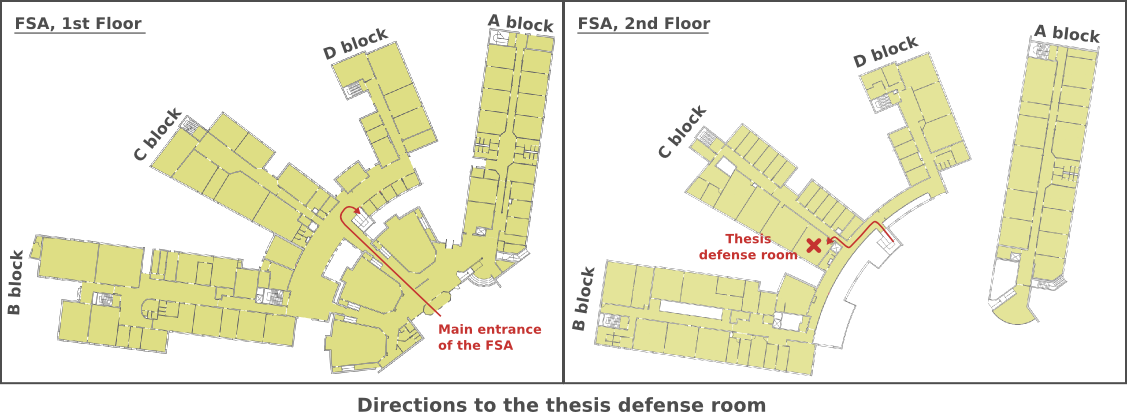 Directions to the Prestige room (Ph.d. defenses)